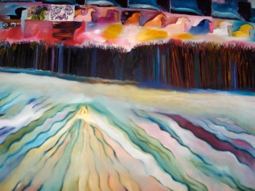"""The Future"", 60""w x 44""h, oil on canvas"