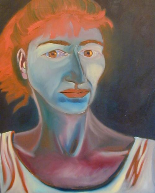 """Self Portrait Spain (Competa) #3"", 22""w x25 1/2""h, $8000"