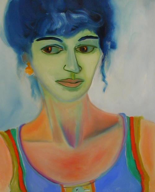 """Self Portrait Spain (Competa) #1"", 22""w x25 1/2""h, $8000"