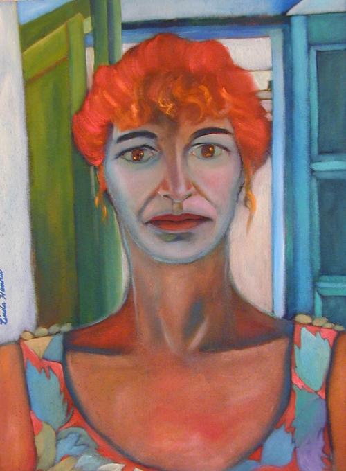 """Self Portrait Spain (Competa) #2"", 22""w x25 1/2""h, $8000"