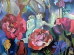 """Cherubs"" (part of a larger painting 44""w x 60""h)"