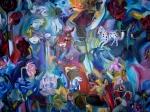 """""""Horses, Roses & Daffodils"""", 72"""" x 47"""", $12,000"""