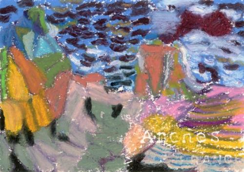 """""""Newfoundland #1"""", oil pastel, 7 1/2""""w x 5 1/2""""h, $280"""