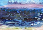 """Before The Hurricane"", oil pastel, 7 1/2""w x 5 1/2""h, $250"