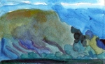 """Going To Bay de Verde, Newfoundland #4"", gouache, 6 3/4""w x 4 1/2""h, $250"
