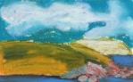 """Blackhead, Newfoundland #2"", oil pastel, 5 1/2""w x 4""h, $250"