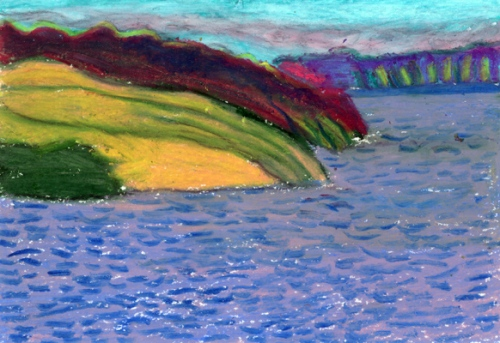 """Going To Bay de Verde, Newfoundland #2"", gouache"