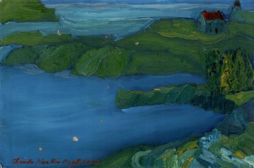"""""""Trinity, Newfoundland #2"""", oil on canvas"""