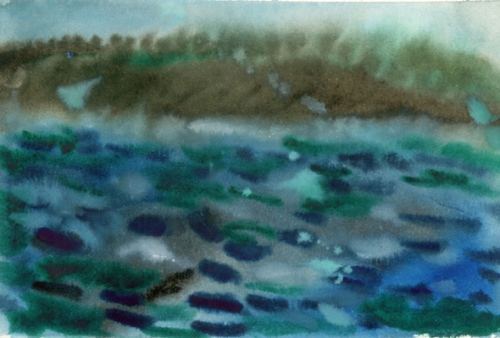 """Going To Bonavista, Newfoundland"", watercolour"
