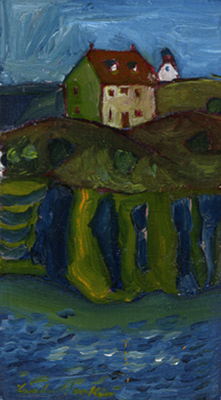 """Church In Trinity, Newfoundland"", oil on canvas"