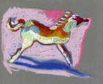 """""""Horse #4"""". oil pastel"""