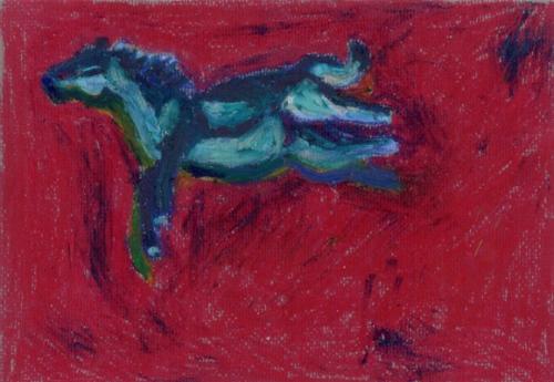 """""""Horse #5"""", oil pastel"""