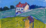 """Peter's House, Trinty, Newfoundland #1"", oil pastel, $250"
