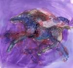 """""""Running Horse"""", watercolour"""